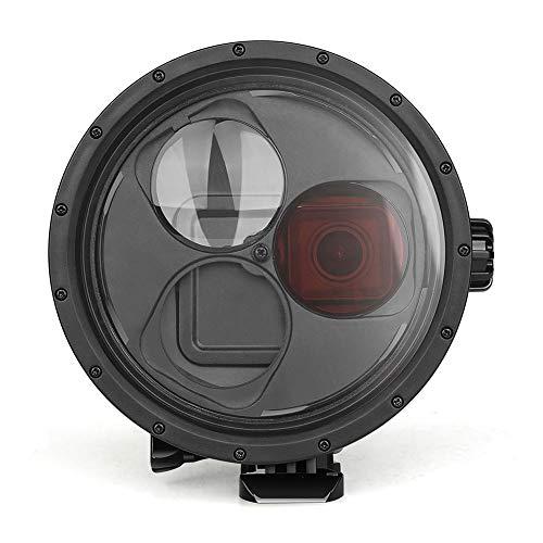 presentimer Puerto de Domo de Buceo para GoPro Hero 7 6 5, Carcasa Impermeable