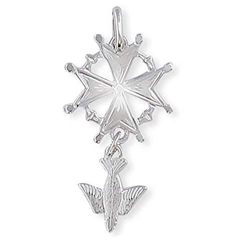 SF Bijoux - Pendentif argent 925/1000e croix huguenote - 1,60 g - (301792)