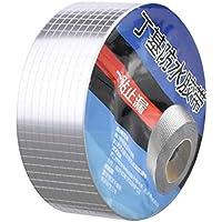 Dokpav 50mmx5m cinta de goma de butilo, Impermeable Sellador Adhesivo, Cinta de sellado autoadhesiva de aluminio, cinta de reparación, para betún vidrio de tubería Piso techo ventana pared caravanas