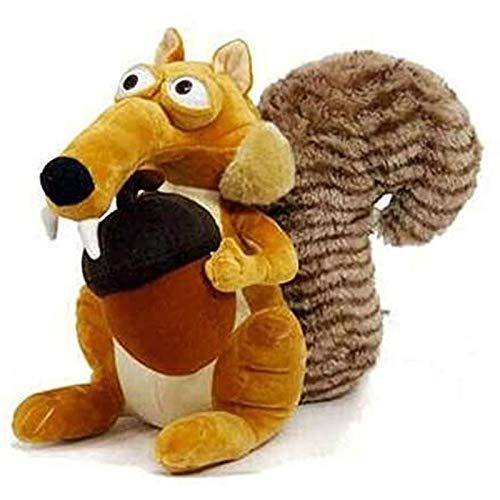 Ggwdhudta Kuscheltier lustige und niedliche Tierpuppe Ice Age 3 Scrat Eichhörnchen Stofftier Geschenk Eichhörnchen Stofftier