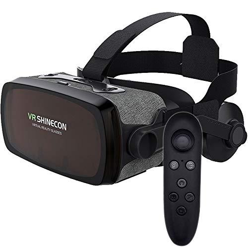 Auriculares VR, Auriculares de Realidad Virtual, Gafas VR, Gafas VR: para Videojuegos de películas VR 3D, Compatible para iPh 7/7 + / 6s / 6 + / 6/5, Samsung, Huawei, Google,F