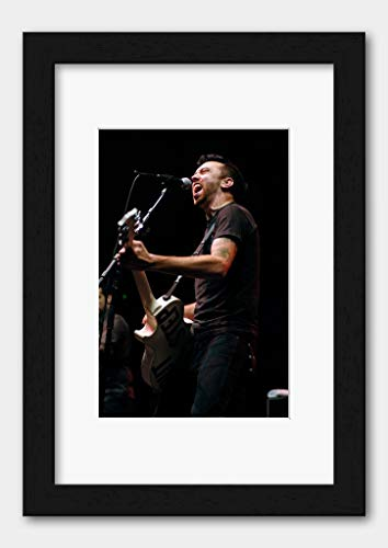 Rise Against - A Taste of Chaos Vodafone Arena Melbourne 2007 Poster Black Frame A3 (29.7x42cm) White