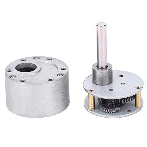 Fafeicy Codiertes Motorgetriebe, 20: 1 Ganzstahlgetriebe, für Industrieroboter, 37 mm Durchmesser, 6 mm D-Abtriebswelle