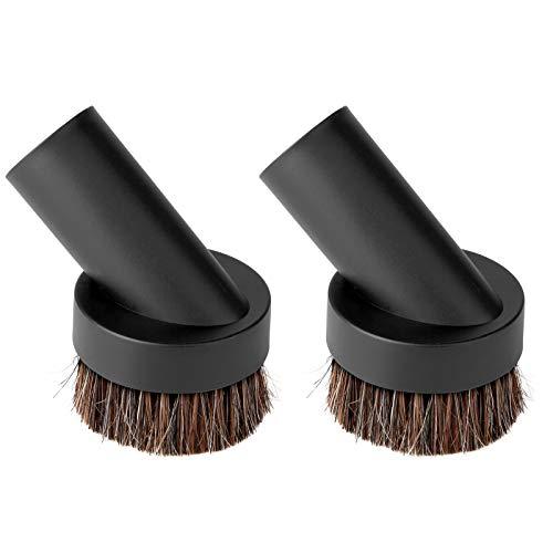 Lamoutor 2Pcs Soft Bristle Vacuum Brush Round Brush Vacuum Attachment Universal Vacuum Dust Brush for Most Vacuum Cleaners Accessories