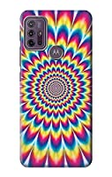 JP3162G1W カラフルなサイケデリック Colorful Psychedelic For Motorola Moto G10 Power 用ケース