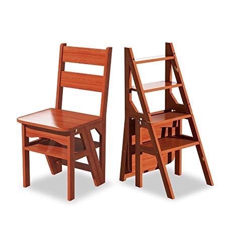 YZQ Solid Wood Step Kruk Multifunctionele Krukje Vouwen Zijn Schoenen Krukje veranderen om Thuis Creatieve Kids Handschoen Kruk Klim De Ladder Hoge Levende Opvouwbare Stap Krukken As Shown Wijn Rood