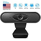 HD 1080P Webcam Pro, 5 Megapixel Streaming Web Camera with Noise Reduction Microphone, Widescreen USB Computer Camera or Streaming Gaming Conferencing Mac Windows PC Laptop Desktop