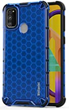 Designed for|Samsung*Galaxy*m30s*black*mobiles*phones*cover*covers*rugged*case*protector*ultra*slim*rubber*armor*ring*ka*backcase* hammer*bumper*stand*army*backcover*silicon*skin*tpu*pouch* protection**shockproof* (Honey-Blue)