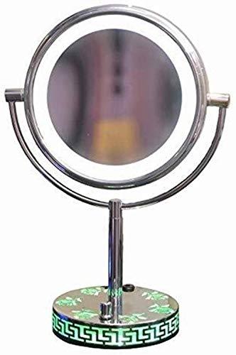Miroir JT- LED de Maquillage avec Lampe de Bureau Zoom Double Dressing-Verso Lumineux Beauty Mirror Creative Base Rose Petit et Pratique