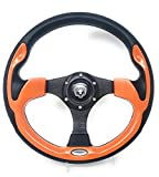 Steering Wheel with Adapter Orange Ez-go POLARIS Ranger Club car Harley Kubota