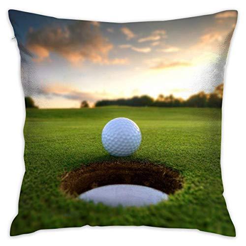 Throw Pillow Cover Golf Hole Cama Sofá Funda de Almohada Almohada para Dormir Cojín Suave 18 'X 18'