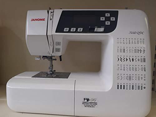 Janome 3160DC - Máquina de coser electrónica + alargador de eje de 60 puntos, 6 ojales
