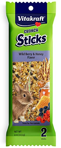 Vitakraft Rabbit Whole Grains & Wild Berries Treat Sticks 2 Pack, 4 Ounce