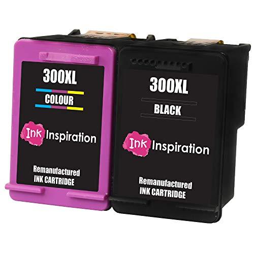 INK INSPIRATION® 2 Premium Druckerpatronen Ersatz für HP 300 300XL Deskjet D1660 D2530 D2545 D2560 D2660 D5560 F2420 F2480 F4210 F4240 F4272 F4280 F4580 F4583 Photosmart C4780 C4680