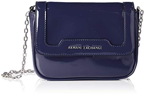 ARMANI EXCHANGE Crossbody Bag Colorful - Borse a spalla Donna, Blu (Navy), 15x6.5x19 cm (B x H T)
