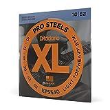 D'Addario ProSteels EPS540 Cordes pour guitare électrique Light Top/Bas lourd 10-52