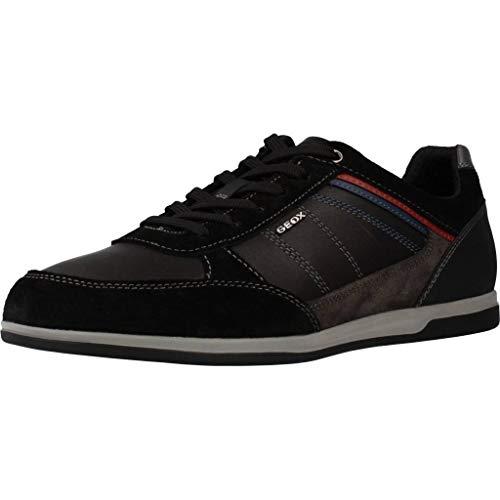 Geox U Renan B, Zapatillas para Hombre, Negro (Black/Mud C9355), 43 EU
