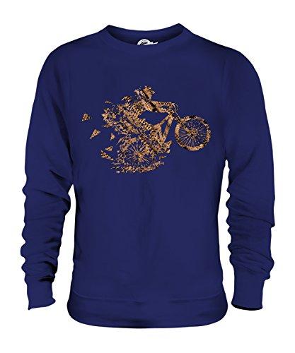 Candymix – Mountain Biker Triangular Splatter – Sudadera unisex para hombre y mujer Azul azul marino L