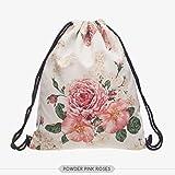 HXLFYM Moda Bolsa con Cordón, Deportes Rosa Rosa Harajuku Morral del Lazo For Mujeres Y Hombres (Color : Bpa35770)