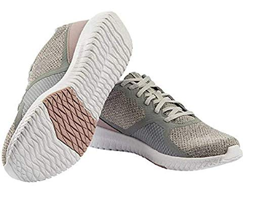 Reebok Ladies' Flexagon Force Shoe (Grey/Pink, Size 9)