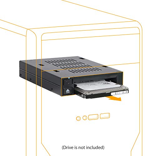 "ICY DOCK 2.5"" SSD Dock Trayless Hot-Swap SATA/SAS Mobile Rack for Ext 3.5"" Bay - flexiDOCK MB521SP-B"