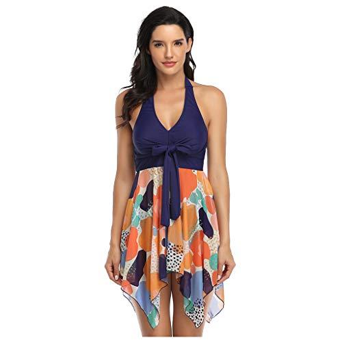 TOPKEAL – Traje de baño para Mujer, Cuello en V, Moda de Playa, Sexy, Cabestro, Push up, Bikini, Conjunto de Dos Piezas, Ropa de Playa, Cintura Alta, triángulo, Bikini Multicolor M