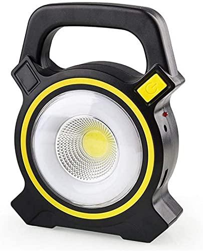 UWY Proyector portátil LED de 30 W, antorcha de luz de Trabajo Recargable Solar, 2 Modos Regulables, luz de inundación al Aire Libre Impermeable IP65 para Viajes en automóvil, Camping, Pesca, 30