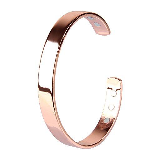 Beauty7 bracciale magnetico in Placcatura in Rame perimetro di 19cm per Artrite da Uomo e Donna