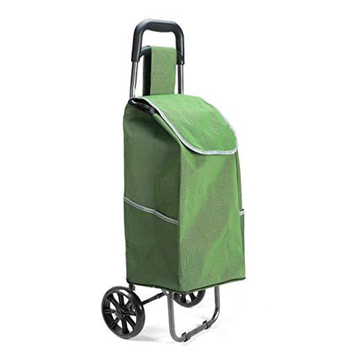ZLININ Y-Longhair Montañismo carritos de la Compra, carros, carretillas, carros Plegables, carritos de supermercado, portátiles Oxford Tela extraíble for una fácil Limpieza. Carritos de la Compra