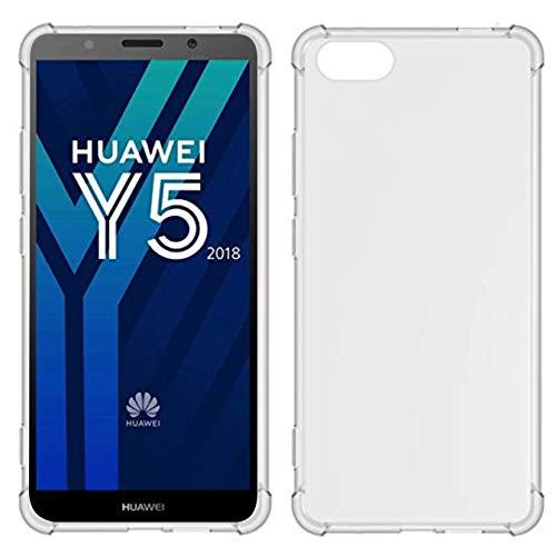TIYA Funda para Huawei Y5 2018 Carcasa Bumper,Shock-Absorción TPU Transparente con Cuatro Esquinas…