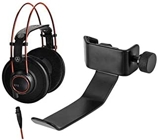 """$499 » AKG Acoustics K712 Pro Reference Studio Headphones, 10-39800 Hz Frequency, 62 Ohms Impedance, 1/4"""" and 1/8"""" Screw-on Combo Jack - With H&A Clamp On Headphone Holder For Mic Stand"""