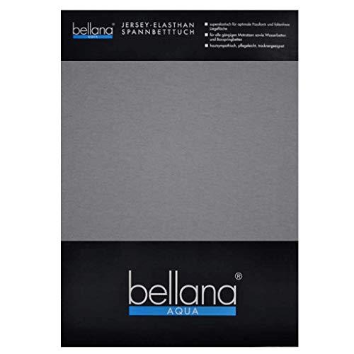 Bellana Aqua-Jersey Spannbettlaken für Wasserbetten mit 3% Elastan / 180-200 x 200-220 cm in Grau
