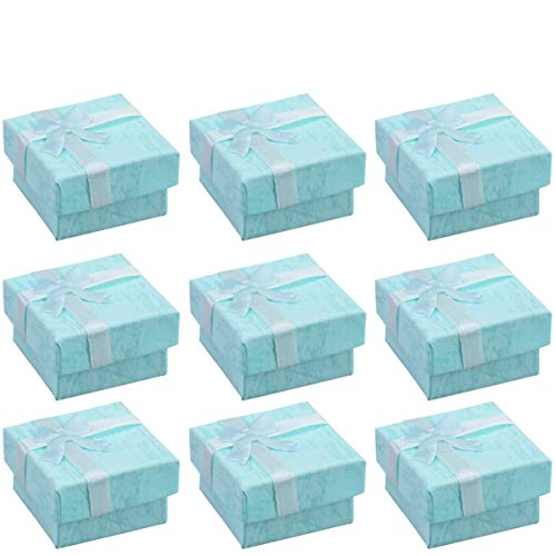 Cabilock Necklace Box 24PCS- Small Jewelery Boxes Jewelry Organizer for Earring Bracelet Necklace (Blue)