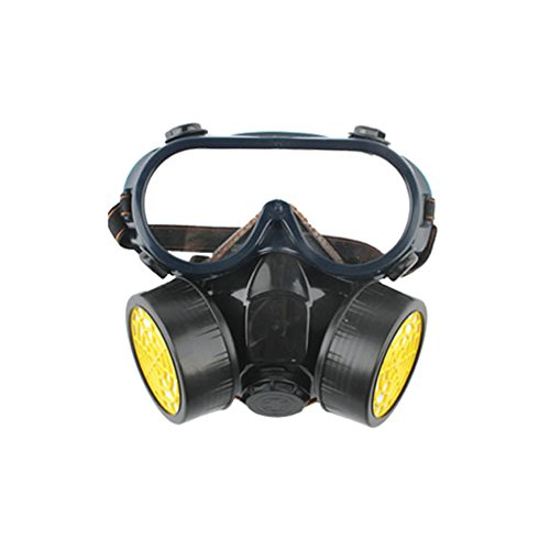 AIU Atemschutzmaske Doppeltank Gasmaske Anti-Staub- Formaldehyd/Lackierung