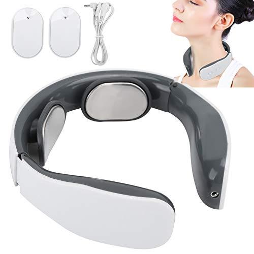 Brrnoo Masajeador de Cuello Masajeador de Cuello de Pulso electromagnético, Masajeador de Cuello portátil Masajeador de Cuello de Viaje eléctrico Que Incluye 4 Modos, Función de Calentamiento