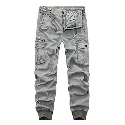 Feidaeu Ropa De Hombre Pantalones Joggers Casuales Con Bolsillo Cintura Elástica Estilo Diario Pantalón Largo De Carga Pantalones
