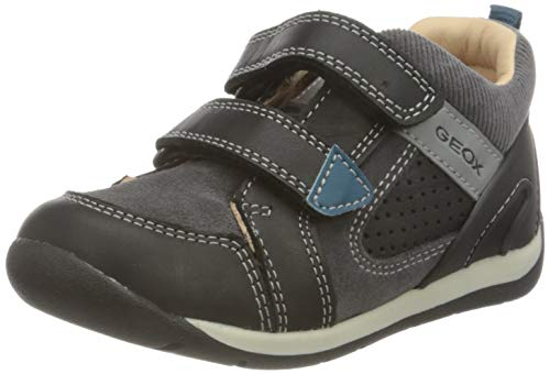 Geox Baby-Jungen B Each Boy A First Walker Shoe, (Black), 19 EU