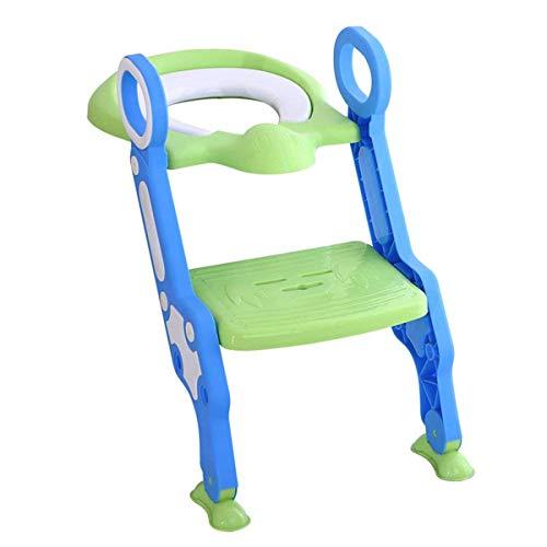 Cloudwalk Orinal Adaptador Asiento WC con Escalera Niños Reductor Bebe (Verde)