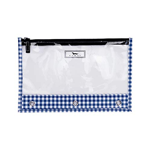 SCOUT Binders Keepers Clear Pencil Pouch for 3-Ring Binders with Zipper Closure (Multiple Patterns Available)