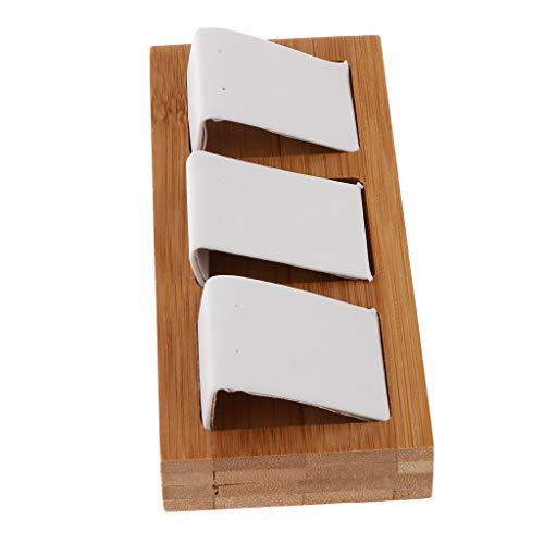 dailymall Pendientes de Madera de Bambú Natural Organizador de Estante de Exhibición de Tachuelas de Oreja - Ranura 3 Blanco, Tal como se Describe