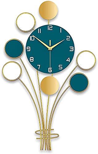 Reloj de pared moderno, reloj de pared con forma de globo, silencioso y sin tictac, números grandes fáciles de leer, relojes de Decor para cocina, hogar, sala de estar, arte moderno, Decor del ho