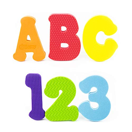 Sassy Count N Spell Bath Appliques – 3+ Years - 36 Piece Set Includes 26 Floating Letters A-Z, 10 Numbers 0-9, Made of Soft, Durable, Non-Toxic Foam