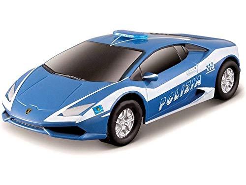 Bburago Maisto France- Circuit de Voiture-Polistil-Lamborghini Huracan LP610 Police, 96035, Bleu