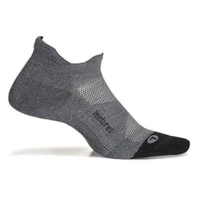 Feetures Elite Max Cushion No Show Tab Sock Block (Medium, Gray)