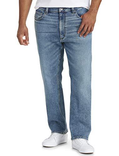 Amazon Essentials - Pantalones vaqueros elásticos de corte recto para hombre, Azul...