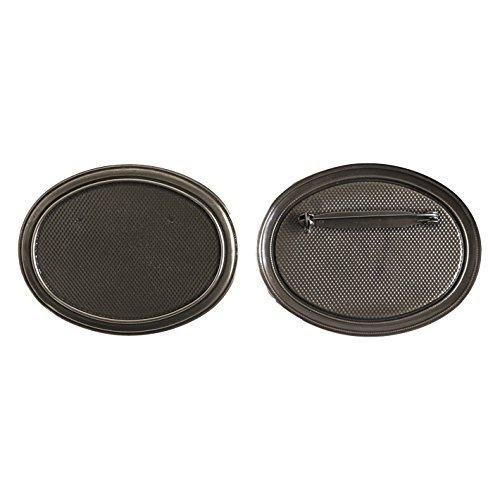 Broche de 5 pièces Taille L 7 x H 5,5 cm noir nickel