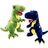 Muñeca de Peluche de Dinosaurio Liuer 2PCS Peluche T-Rex Tyrannosaurus Dinosaurio Figura Juguete de Dinosaurio Fiesta Pequeño Juguetes Regalo de Cumpleaños Infantiles del Partido Favor Niñas Niños