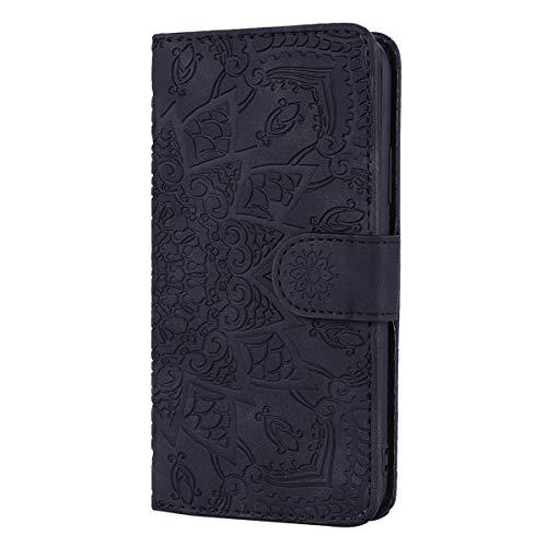 Snow Color Galaxy A9 2018 Hülle, Premium Leder Tasche Flip Wallet Case [Standfunktion] [Kartenfächern] PU-Leder Schutzhülle Brieftasche Handyhülle für Samsung Galaxy A9 2018/A920F - COHF010101 Schwarz