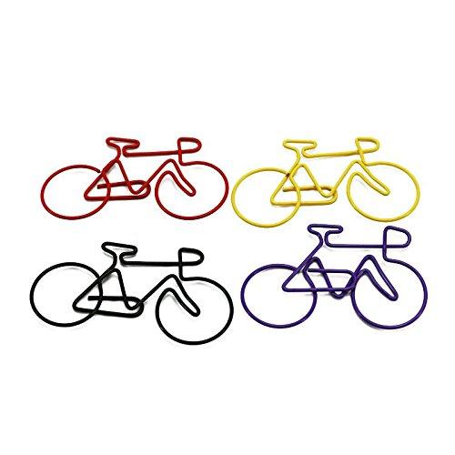 Gaoominy Carta da bici Clips Bicicletta Confezione di clip per schede metalliche (colore casuale) 50 pezzi