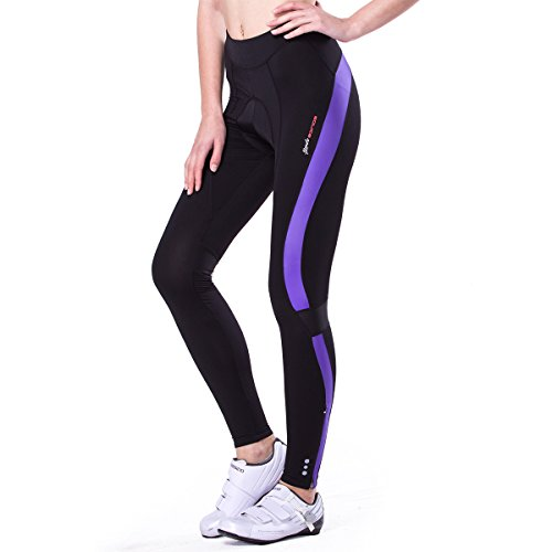 Fmix Women's 4D Padded Cycling Tights Long Bicycle Pants Ourdoor Clothes Bike Wear (M 27